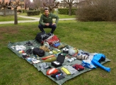 <h5>Ludovic with our equipment</h5>